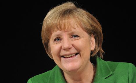 Merkel shows deadpan comic genius