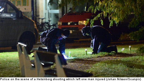 One arrested after man shot in southern Sweden