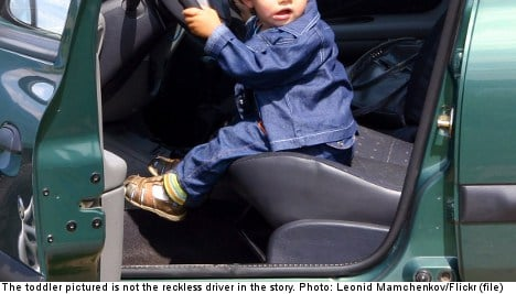 Swedish toddler steals mum's keys, crashes car