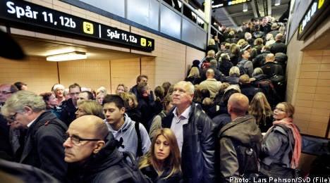 Power outage halts rail traffic near Stockholm