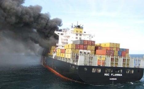 Damaged cargo ship enters German waters