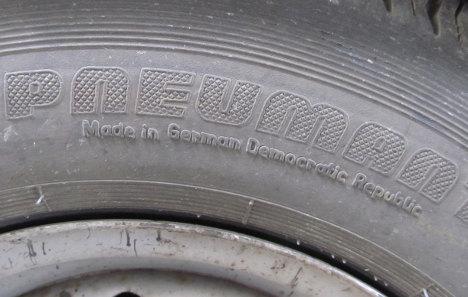 British tarmac truck had historical GDR tyres