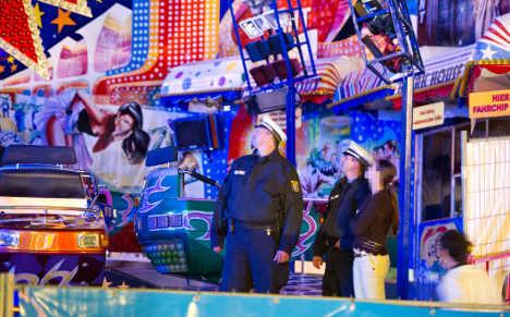 Lucky escape as fairground ride falls apart