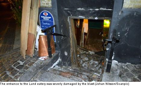 Mystery blast blows doors off Lund restaurant