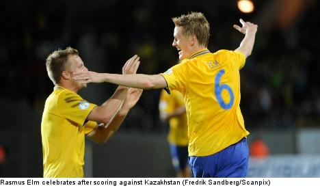 Sweden snags 2-0 win over Kazakhstan