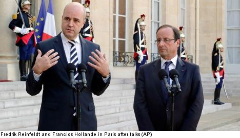 Reinfeldt uses Paris meet to pan EU banking union