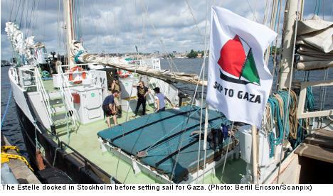Israel urges UN to halt Swedish Gaza ship