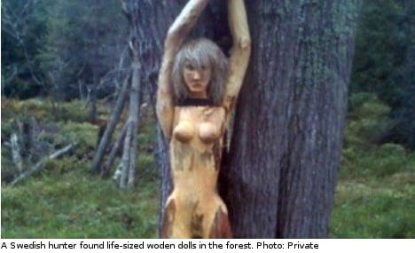 Swedish hunter baffled by naked sculpture find
