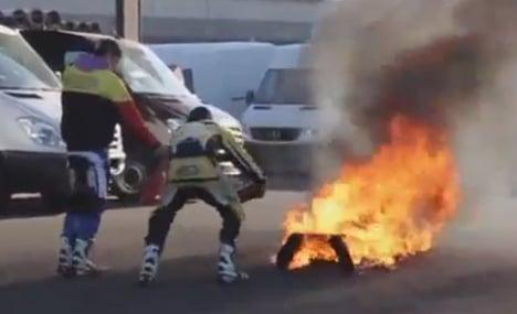 Stuntman left ablaze as fire extinguishers fail