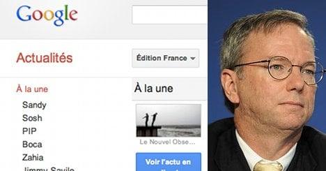 Google boss meets Hollande amid media row