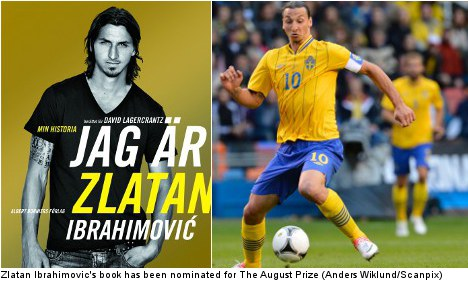Zlatan short-listed for prestigious literary prize