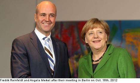 Reinfeldt, Merkel: 'don't rush EU bank oversight'