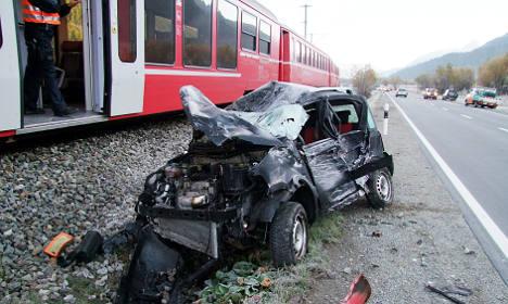 Boy, 4, in 'miracle' train crash escape