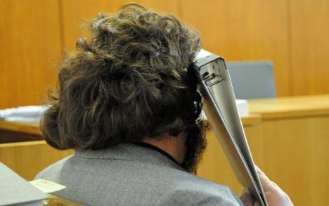 Peeping sweep appears in court in fake beard
