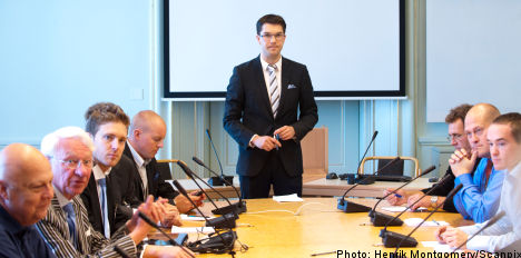 Sweden Democrats launch party 'clean out'