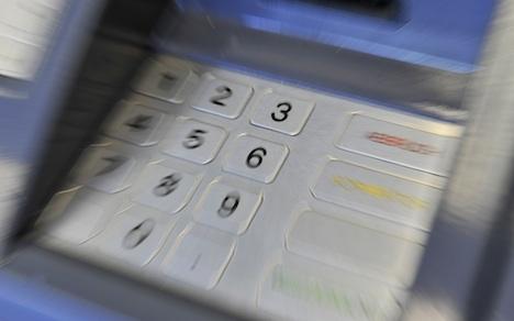 Train station thieves take entire cash machine