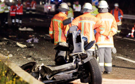 Family of four dies in double autobahn crash