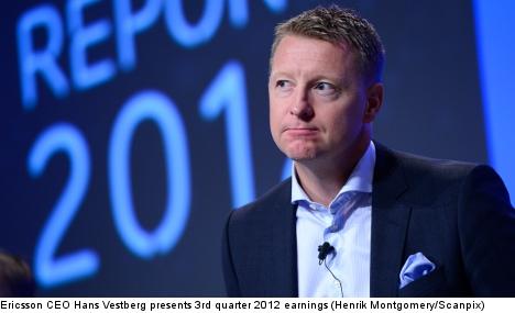 Ericsson shares slide as profits nosedive