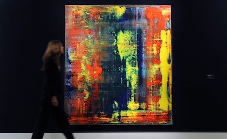 German abstract painting sells for record price