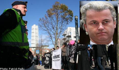 Muted protests greet Wilders Malmö visit