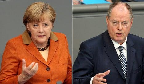 Steinbrück attacks Merkel over euro crisis
