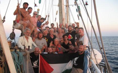 Ship to Gaza activists taken to Israeli port