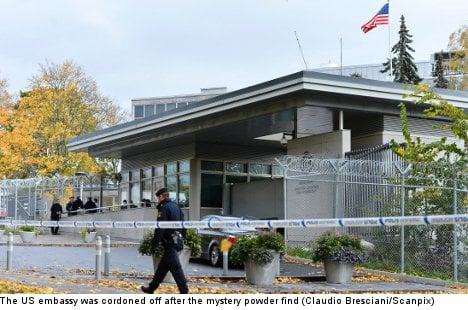 'Toxic' powder sent to US embassy: police