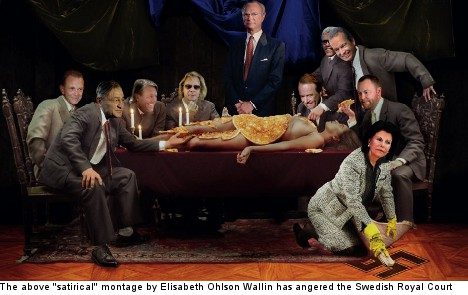 Swedish royal fury over 'offensive' artwork