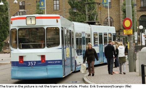 Disabled Swedes in Gothenburg tram sit-in
