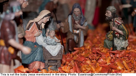 Swedish Christmas market resurrects Jesus