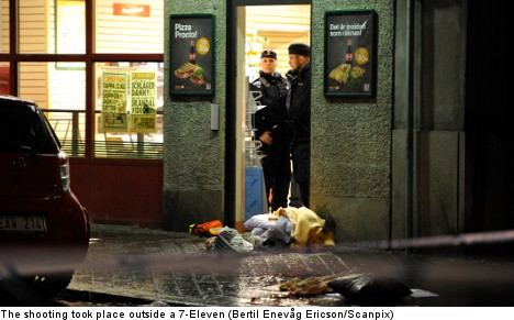 Man shot in the face in central Stockholm