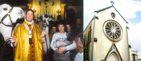 Four-legged Christians bleat over church closure