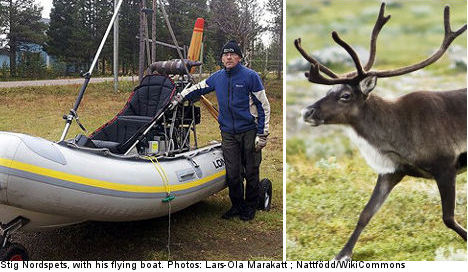 Boat in the clouds helps Swede spy on reindeer