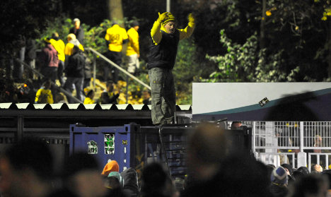 Dynamo Dresden face fines after fans riot