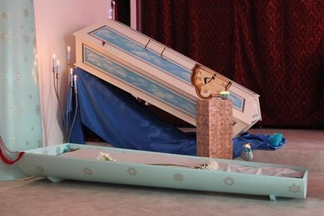 Swiss custom coffins to die for