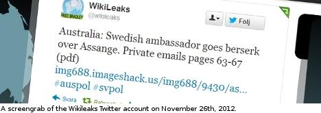 Swedish envoy bashes Aussie press on Assange
