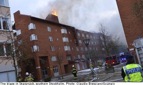 Smoke warning for south Stockholm after blaze