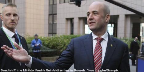 Reinfeldt cedes to EU budget demands