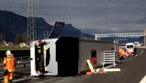 Marcus Miller Band bus crashes in Switzerland