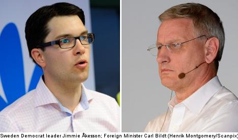 Bildt bashes new Sweden Democrat poll rise