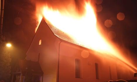 Fire ravages historic village church