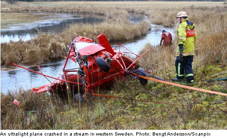 Two dead after plane crashes in Swedish river