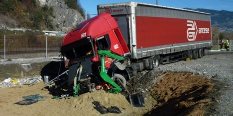 Freak truck crash kills excavator operator