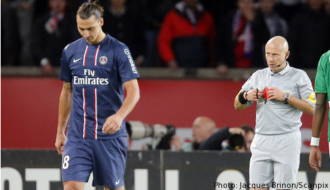 Zlatan faces two-game ban for red card