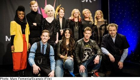 Contestants announced for Melodifestivalen 2013