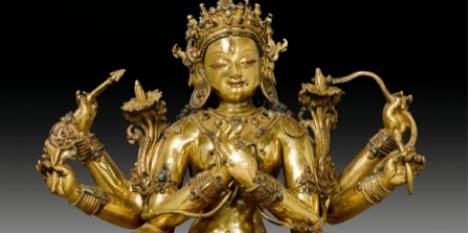 Tibetan statue fetches top bids at Swiss auction