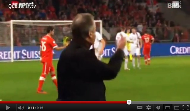 Hitzfeld barred for two games over 'finger'