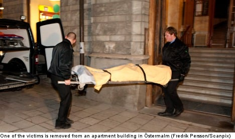 Deaths shock upscale Stockholm district