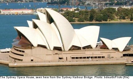 Swede caught scaling Sydney Opera House