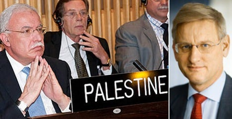 Sweden to support Palestinian UN upgrade